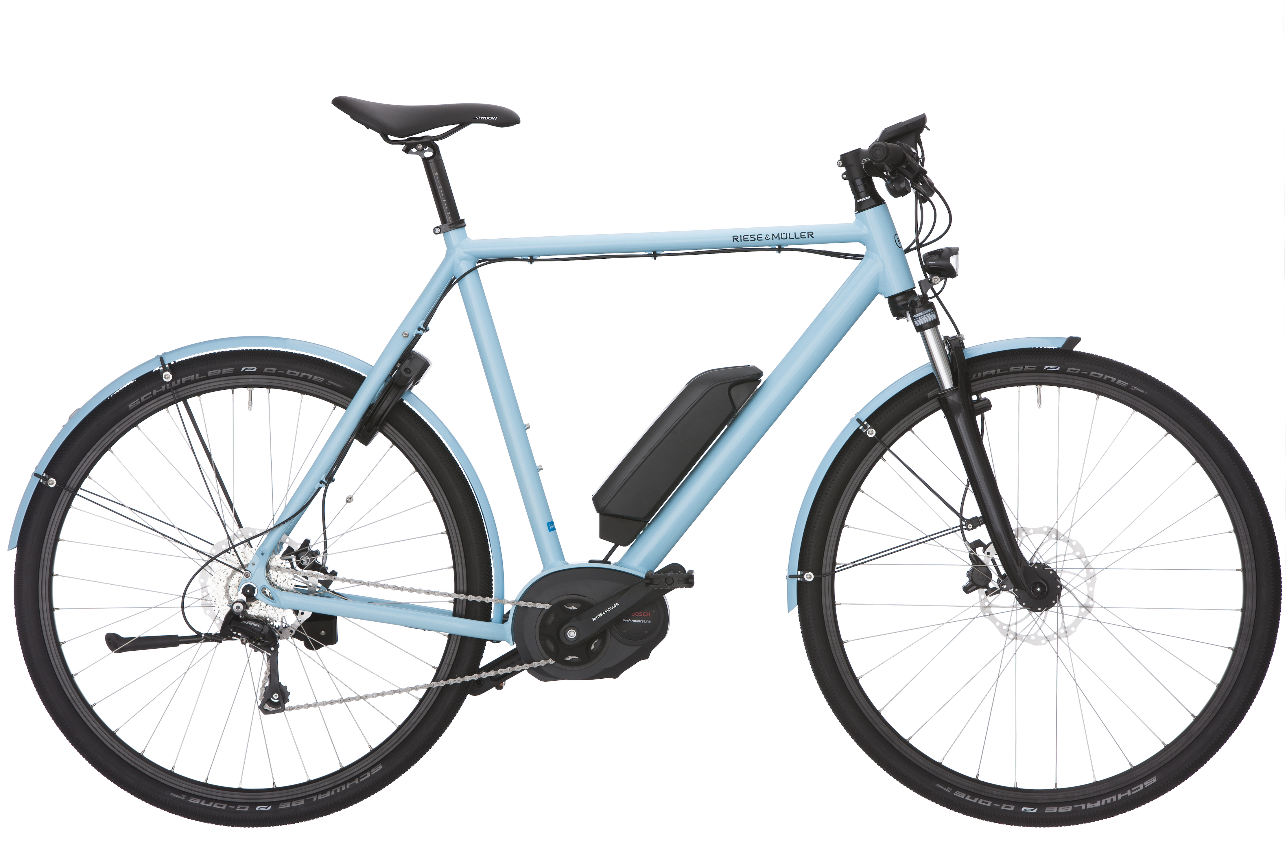 R & M Roadster Touring (light blue) und R & M Nevo (white)